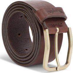 Pasek Męski WRANGLER - Refine Belt W0B65U185 85 Brown. Brązowe paski męskie Wrangler, w paski, ze skóry. W wyprzedaży za 159,00 zł.