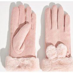 Rękawiczki - Różowy. Czerwone rękawiczki damskie Sinsay. Za 29,99 zł.
