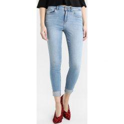 New Look TURN UP ROCKER Jeans Skinny Fit mid blue. Czarne jeansy damskie marki New Look, z materiału, na obcasie. W wyprzedaży za 125,10 zł.