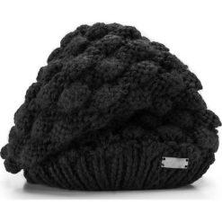 Czapka damska 85-HF-015-1. Czarne czapki zimowe damskie Wittchen, z dzianiny. Za 39,00 zł.