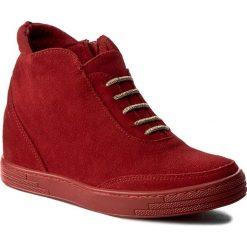 Sneakersy damskie: Sneakersy ROBERTO – 556 Czerw. Welur