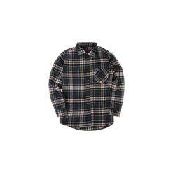Koszula męska klasyczna, z kieszeniami, z guzikami, Z KOŁNIERZEM casual flanelowa. Szare koszule męskie marki TXM, z dresówki. Za 14,99 zł.
