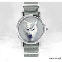Zegarek - Biały wilk - szary, nato. Białe zegarki męskie Pakamera. Za 129,00 zł.