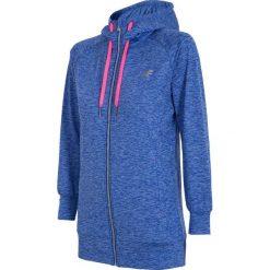 Damska bluza sportowa 4F Dry Control Blue melange. Niebieskie bluzy rozpinane damskie Astratex, m, z materiału, do biegania. Za 143,19 zł.