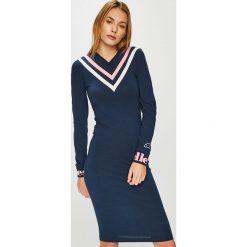 Ellesse - Sukienka. Czarne sukienki dzianinowe marki numoco, na co dzień, l, w koronkowe wzory, z odkrytymi ramionami. Za 219,90 zł.