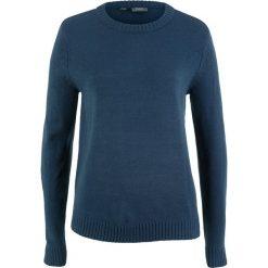 Swetry klasyczne damskie: Sweter bonprix ciemnoniebieski