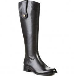Oficerki NESSI - 20010 Czarny 111. Czarne buty zimowe damskie marki Nessi, z materiału, na obcasie. W wyprzedaży za 309,00 zł.