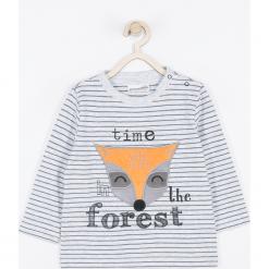 Koszulka. Szare t-shirty chłopięce z długim rękawem FOREST, z aplikacjami, z bawełny. Za 45,90 zł.