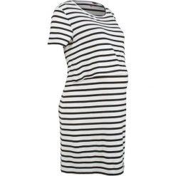 Sukienki ciążowe: Sukienka shirtowa ciążowa i do karmienia bonprix czarno-biel wełny w paski