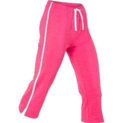 Spodnie dresowe damskie: Rybaczki sportowe ze stretchem, dł. 3/4 bonprix ciemnoróżowy