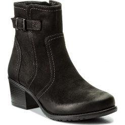 Botki LASOCKI - RST-KALA-04 Czarny 1. Czarne buty zimowe damskie Lasocki, z nubiku, na obcasie. Za 199,99 zł.