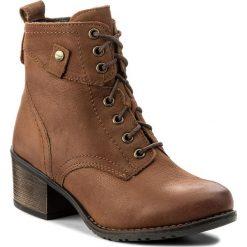 Botki LASOCKI - RST-KALA-05 Brązowy. Brązowe buty zimowe damskie Lasocki, z nubiku, na obcasie. Za 229,99 zł.