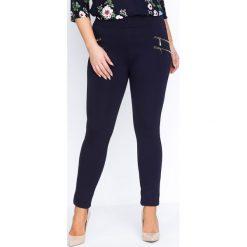 Spodnie damskie: Granatowe Legginsy Ultra Vibe