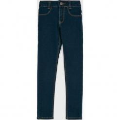 Levi's - Jeansy dziecięce 710 116-164 cm. Brązowe rurki dziewczęce marki Levi's®, z bawełny. Za 169,90 zł.