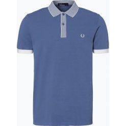 Fred Perry - Męska koszulka polo, niebieski. Niebieskie koszulki polo Fred Perry, m, z haftami, z bawełny. Za 229,95 zł.
