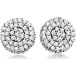 RABAT Białe Złoto Kolczyki - złoto białe 333, Diament 0,40ct. Białe kolczyki damskie W.KRUK, z diamentem, złote. W wyprzedaży za 879,00 zł.