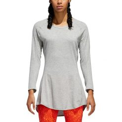 Koszulka-sukienka do biegania damska ADIDAS SUPERNOVA PURE DRESS / CG1098. Szare bluzki longsleeves marki Adidas. Za 137,00 zł.
