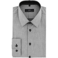 Koszula MICHELE 16-01-18. Czarne koszule męskie na spinki marki Premium by Jack&Jones, l, z bawełny, z włoskim kołnierzykiem, z długim rękawem. Za 199,00 zł.