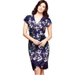 Sukienki hiszpanki: Prosta, krótka sukienka w kwiatki, krótki rękaw