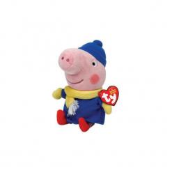 Maskotka TY INC  Beanie Babies  Zimowy George Peppa 15 cm. Różowe przytulanki i maskotki marki TY INC. Za 29,99 zł.