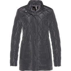 Długa kurtka pikowana bonprix szary. Szare kurtki damskie pikowane bonprix. Za 149,99 zł.