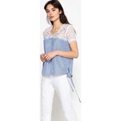 Koszule body: Koszula z koronki, wiązana po bokach, czysta bawełna
