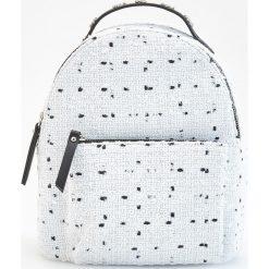 Plecaki damskie: Plecak w groszki - Biały
