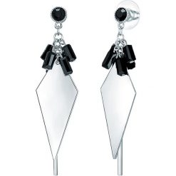 Biżuteria i zegarki: Posrebrzane kolczyki-wkrętki z kryształkami