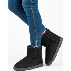 ZAMSZOWE MUKLUKI VICES. Czarne buty zimowe damskie vices, z zamszu. Za 76,90 zł.