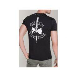 T-SHIRT KNIFE 2. Niebieskie t-shirty męskie marki bonprix, m, z nadrukiem, z klasycznym kołnierzykiem, z długim rękawem. Za 219,00 zł.