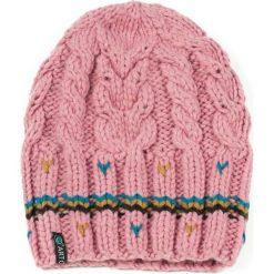 Czapka damska Stripes różowa. Czerwone czapki zimowe damskie marki Art of Polo. Za 37,60 zł.