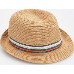 Kapelusze damskie: Pleciony kapelusz - Beżowy