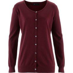 Sweter rozpinany bonprix czerwony klonowy. Czerwone kardigany damskie bonprix. Za 54,99 zł.
