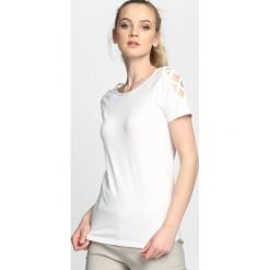 T-shirty damskie: Biały T-shirt Curtains