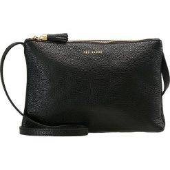 Ted Baker DOUBLE ZIPPED XBODY Torba na ramię black. Czarne torebki klasyczne damskie Ted Baker. Za 649,00 zł.