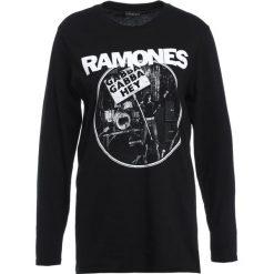 Bluzki asymetryczne: 12 Midnight OVERSIZED RAMONES Bluzka z długim rękawem black