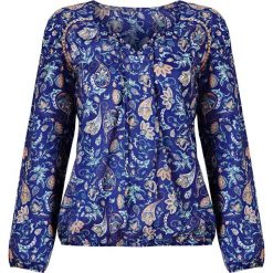 Bluzki, topy, tuniki: Tunika z długim rękawem bonprix ciemnoniebieski z nadrukiem