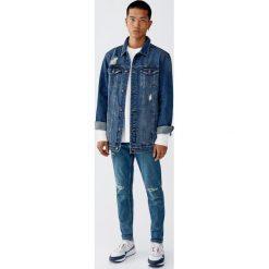 Jeansy carrot fit premium. Niebieskie jeansy męskie relaxed fit Pull&Bear. Za 139,00 zł.
