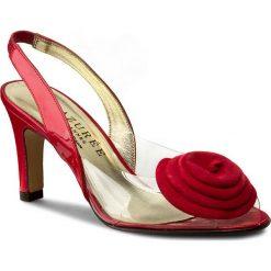 Rzymianki damskie: Sandały AZURÉE – Natal 96Ec Vernis Rouge/Velours Rouge 03