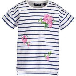 Blue Seven - Top dziecięcy 92-128 cm. Niebieskie bluzki dziewczęce Blue Seven, z bawełny, z okrągłym kołnierzem, z krótkim rękawem. W wyprzedaży za 29,90 zł.