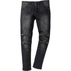 """Dżinsy ze stretchem Skinny Fit Straight bonprix czarny denim """"used"""". Czarne jeansy męskie relaxed fit marki bonprix, z denimu. Za 159,99 zł."""