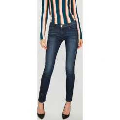 Trussardi Jeans - Jeansy 260 Stone Wash. Niebieskie jeansy damskie rurki Trussardi Jeans, z bawełny. W wyprzedaży za 499,90 zł.