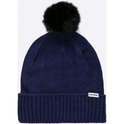 Converse - Czapka. Niebieskie czapki zimowe damskie Converse, na zimę, z dzianiny. W wyprzedaży za 79,90 zł.