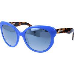 """Okulary przeciwsłoneczne damskie aviatory: Okulary przeciwsłoneczne """"JC656S 90C"""" w kolorze brązowo-niebieskim"""