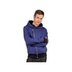 The bassman męska z kapturem bluza  bawelna organiczna. Szare bluzy męskie rozpinane marki Button. Za 239,00 zł.