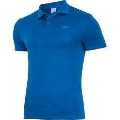 Koszulka treningowa polo męska TSMF004 - niebieski ciemny - 4F. Niebieskie koszulki polo 4f, na lato, l, z poliesteru. Za 99,99 zł.