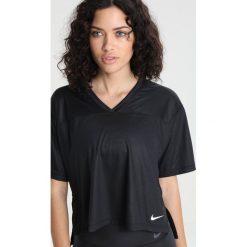 Nike Performance SHORT SLEEVE Tshirt basic black/white. Czarne topy sportowe damskie marki Nike Performance, m, z lyocellu. W wyprzedaży za 143,10 zł.