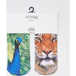 Skarpety z motywem zwierzęcym - Wielobarwn. Szare skarpetki damskie Sinsay, z motywem zwierzęcym. W wyprzedaży za 4,99 zł.