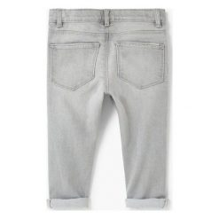Mango Kids - Jeansy dziecięce Elena 80-98 cm. Szare jeansy dziewczęce Mango Kids, z bawełny. W wyprzedaży za 49,90 zł.
