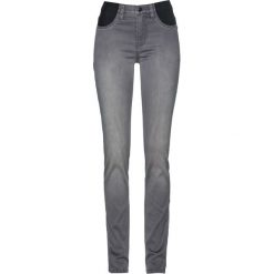 Dżinsy z wygodnym paskiem bonprix szary denim. Szare jeansy damskie marki bonprix. Za 109,99 zł.